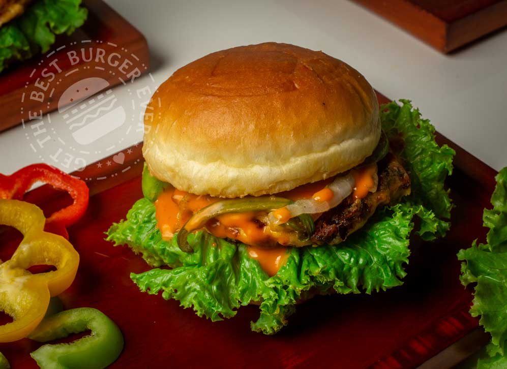 Lava Cheese Beef Burger